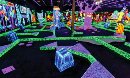 image for Four Rounds of Miniature Golf or Birthday Party for 13 <strong>Kids</strong> at Monster Mini Golf (Up to 72% Off)