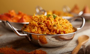 Thumka Indian Bar & Grill: Indian Cuisine at Thumka Indian Bar and Grill (Up to 50% Off). Four Options Available.