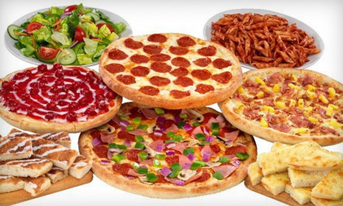 Papa's Pizza to Go - Fern Park: Gourmet Pizza Buffet for Two or Four or Large Pizza Package with Sides and Soda at Papa's Pizza to Go (Up to 53% Off)