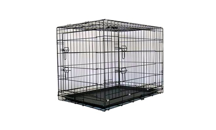 Metal Dog Crates with Dividers