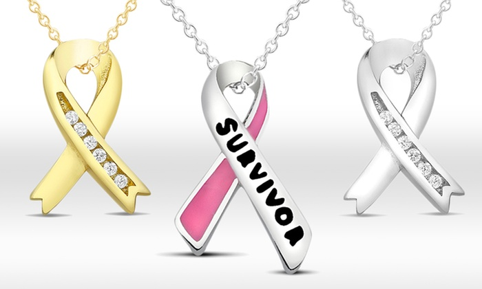 National Breast Cancer Foundation Sterling Silver Ribbon Necklaces: National Breast Cancer Foundation SilverRibbon Necklaces. Multiple Styles Available. Free Shipping and Returns.