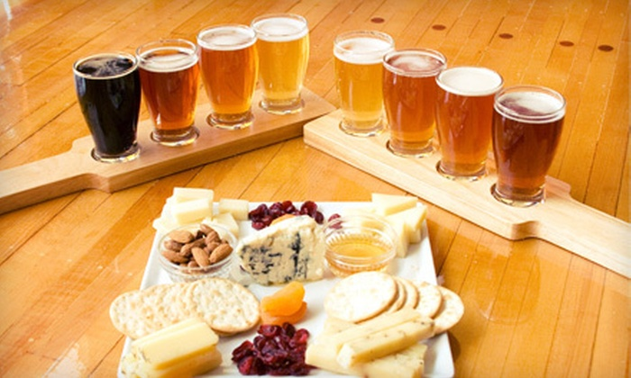 Uber Tap Room at Wisconsin Cheese Mart - Milwaukee: Gourmet-Cheese Plate and Craft-Beer Flights for Two or Four at Über Tap Room at Wisconsin Cheese Mart (Up to 52% Off)