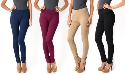 Elastic Pants with Back Pockets