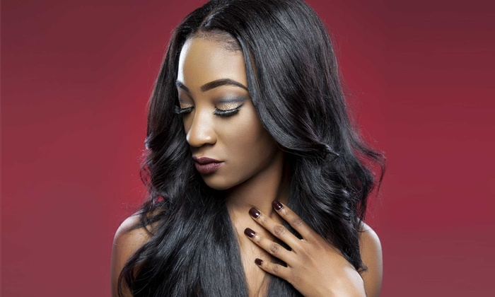 Houston Hair Weaving Center - Woodlake - Briar Meadow: Haircut with Optional Highlights or a Sew-In-Weave Application at Houston Hair Weaving Center (Up to 60% Off)
