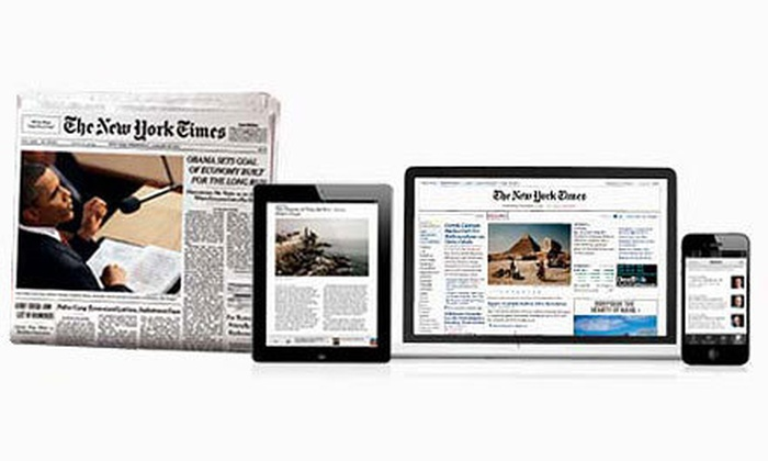"""The New York Times"" - New York City: $24 for an Eight-Week Weekender Subscription Plus Free Access to NYTimes.com and Smartphone and Tablet Apps ($63.20 Value) ($63.20 Value)"