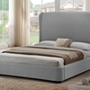 Sheila Modern Platform Beds with Upholstered Headboards