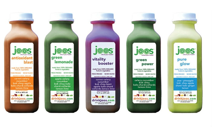 JOOS - Multiple Locations: Three-, Five-, or Seven-Day Organic-Juice Cleanse from Joos (Up to 58% Off)