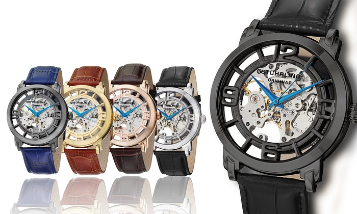 5b87b8df2 Stührling Original Men's Skeleton Automatic Legacy Watch Collection ...