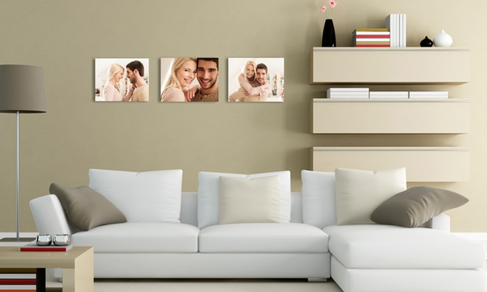 """MailPix: One, Two, or Four Custom 8""""x10"""" Easel-Back Photo Canvases from MailPix (Up to 92% Off)"""