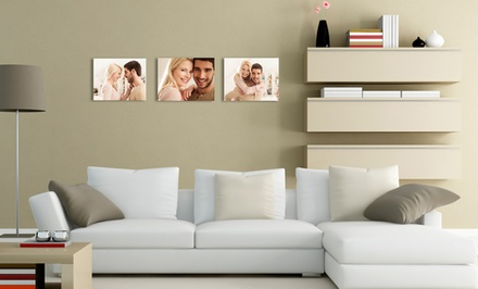 """One, Two, or Four Custom 8""""x10"""" Easel-Back Photo Canvases from MailPix (Up to 92% Off)"""