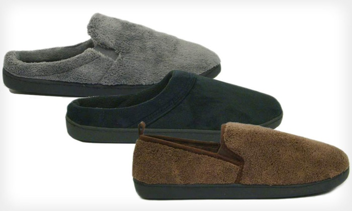 One Pair of Totes Men's Slippers: $16 for One Pair of Totes Men's Slippers ($36 List Price). Multiple Options Available. Free Shipping and Free Returns.