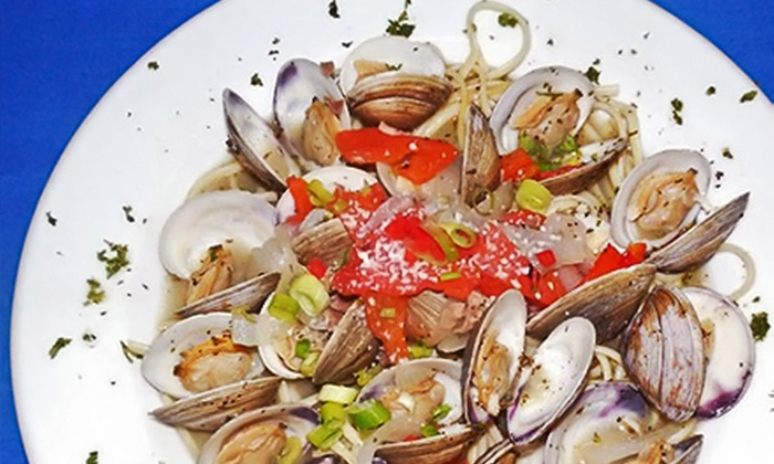 Blue at the Topaz - Flagler Beach: Beachside Steak and Seafood Dinner at Blue at the Topaz (Up to 48% Off). Two Options Available.