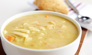 Eddington's: Bottomless or Regular Bowls of Soup at Eddington's (Up to 50% Off). Two Options Available.