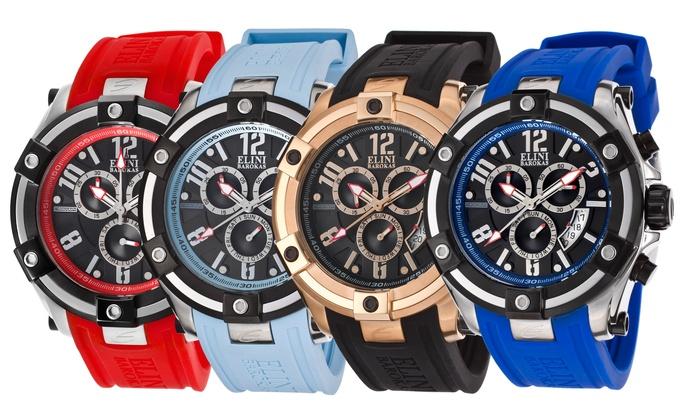 81b9dac75 Elini Barokas Men's Gladiator Chronograph Watches