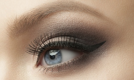 Full Set of Mink or Silk Eyelash Extensions with Optional Fill at Lash Point (Up to 52% Off)