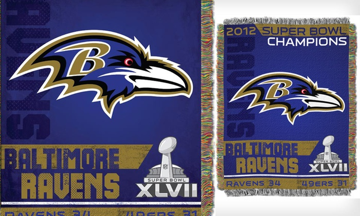 Ravens Champion Tapestry Throw: $26 for a Ravens Champion Tapestry Throw ($43.99 List Price). Free Shipping and Free Returns.