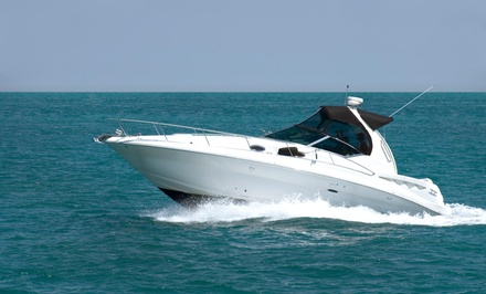 $539 for $980 Worth of Yacht Rental  moes yacht rental in