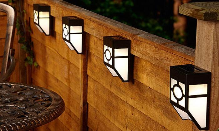 Gardman Solar Wall Lights : Solar Fence Lights Groupon Goods