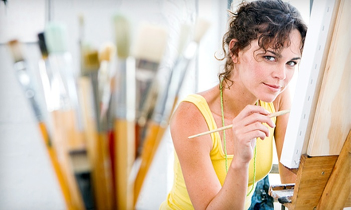 The Tipsy Paintbrush - The Tipsy Paintbrush: Two-Hour BYOB Canvas-Painting Class for Two, Four, or Six at The Tipsy Paintbrush (Up to 53% Off)