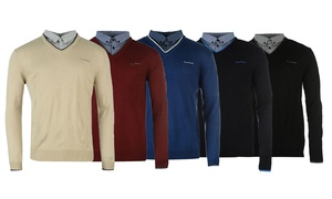 Pull Pierre Cardin col chemise