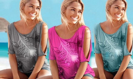 Women's Cut-Out Shoulder Top from AED 49 (Up to 24% Off)