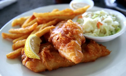 $22 for Fish and Chips Dinner for Two with Drinks at The Lobster Trap ($46 Value)