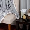 Lavish Home Plush Corduroy Sherpa Throw Blanket