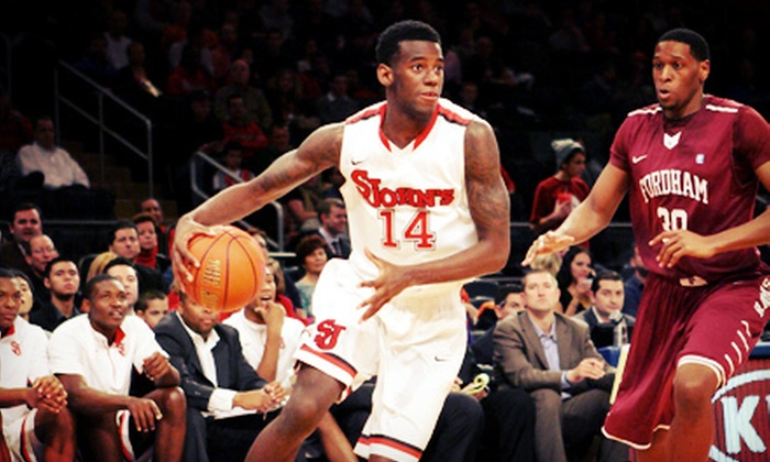 St. John's Red Storm Men's Basketball - Madison Square Garden: St. John's Men's College Basketball Game on January 9, 12, or 15 at Madison Square Garden (Up to 51% Off)