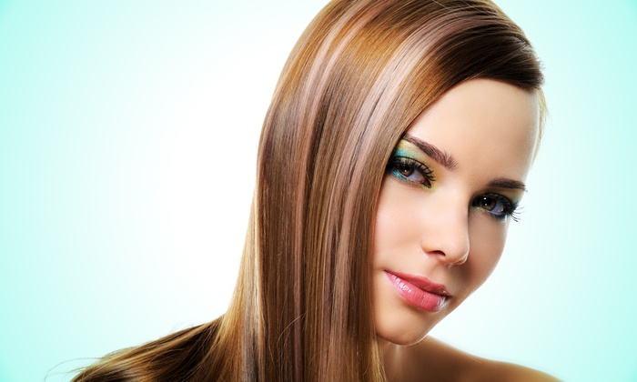 Atlas Beauty Hamman Spa - West Peabody: Haircut and Blow Dry with Optional Partial or Full Highlights at Atlas Beauty Hamman Spa (Up to 57% Off)