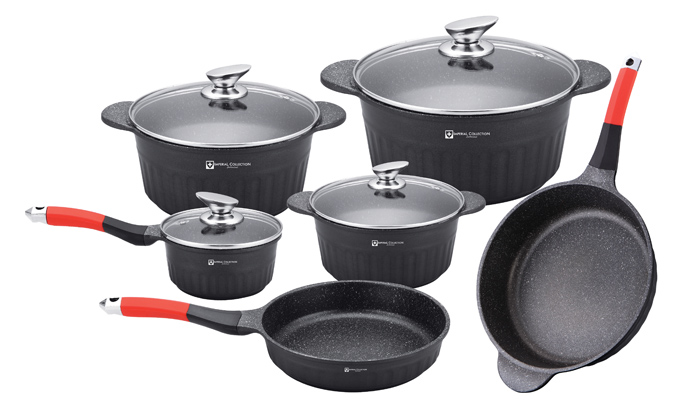 Batterie De Cuisine Pierre | Batterie De Cuisine En Ceramique Groupon Shopping
