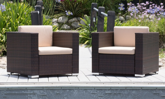 Westlake Outdoor Wicker Club Chairs Set Of 2