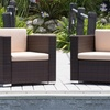 Westlake Outdoor Wicker Club Chairs (Set of 2)