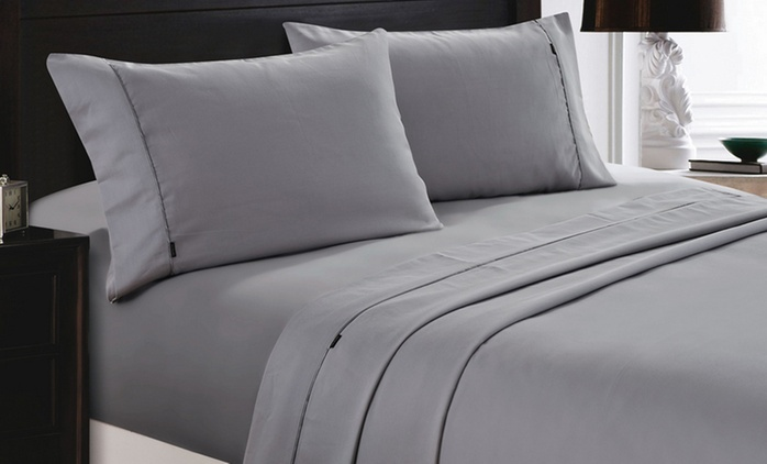 $49 for a 1200 Thread Count Cotton Sheet Set or from $55 for Quilt Cover Set in Choice of Colour (Don't Pay up to $229)