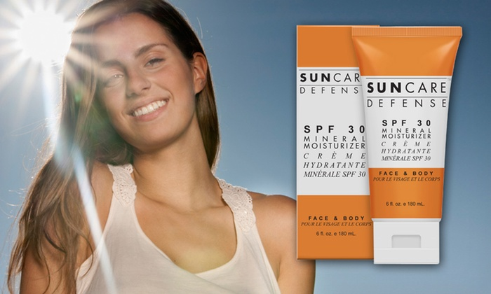 Suncare Defense Sunscreen: $19.99 for One Tube of SPF 15 or 30 Suncare Defense Mineral Moisturizer Sunscreen ($34.99 List Price). Free Shipping.