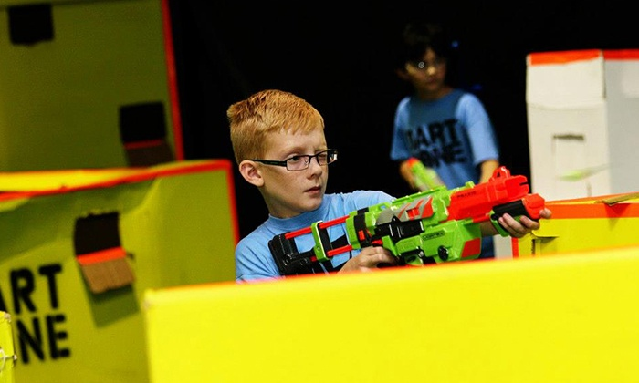 Dart Zone - Southeast Meridian: Two-Hours of Nerf Tag or One-Hour of Glow, Black-Light Nerf Tag for Two or Four at Dart Zone (Up to 53% Off)
