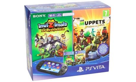 PS Vita con tarjeta de 8GB y los videojuegos 'Invizimals: La Resistencia' y 'Muppets: The Movie'
