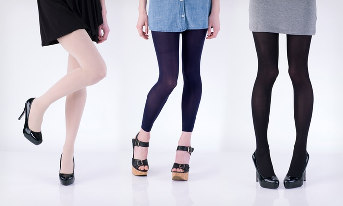 Chinese Laundry Tights Two-Packs: $12.99 for a Two-Pack of Chinese Laundry Footed or Footless Tights ($30 List Price). 24 Options Available. Free Returns.
