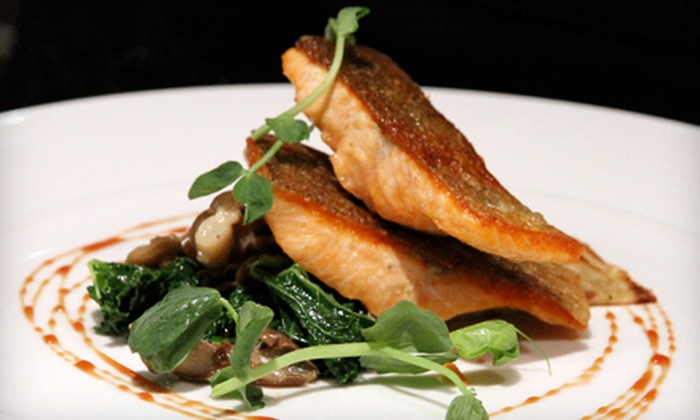 "earth - Multiple Locations: Four-Course ""Down to earth"" Prix Fixe Dinner of Locally Sourced Cuisine for Two or Four at earth (Up to 54% Off)"