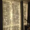Fairy Light String Holiday Curtain