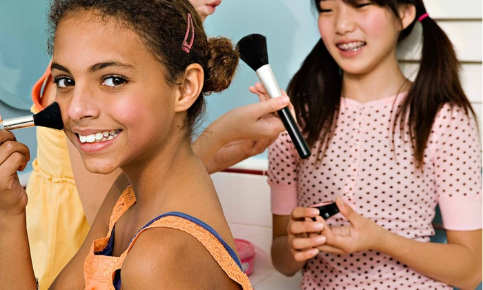 Sweet & Sassy - Shrewsbury: Kids' Spa Packages with Updos, Nail Polish, and Makeup at Sweet & Sassy (Up to 53% Off). Four Options Available.