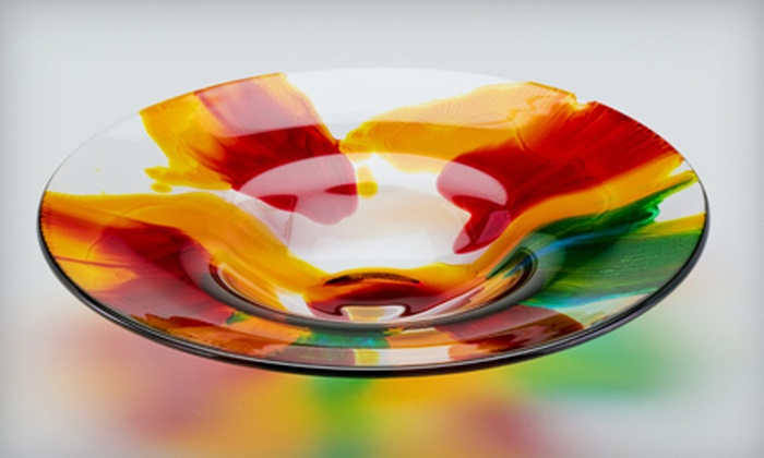 Kiln Pottery - Brecksville: Two-Hour BYOB Intro to Glass Fusing Class at Kiln Pottery (Half Off). 21 Dates Available.
