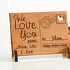 Send Love to Mom Personalized Wood Postcard (Up to 60% Off)