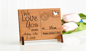 Send Love to Mom Personalized Wood Postcard at Personalization Mall, plus 9.0% Cash Back from Ebates.