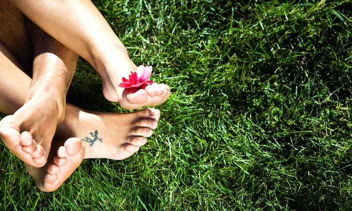 Feet First Podiatry - Saint Charles: Three Laser Nail-Fungus Treatments for One or Both Feet at Feet First Podiatry (Up to 89% Off)