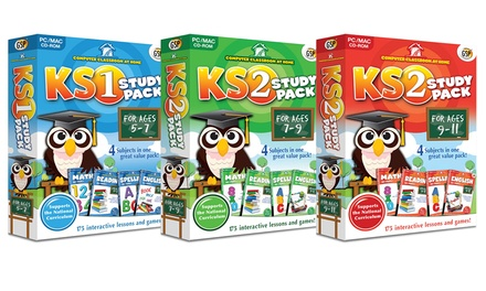 Avanquest Computer Classroom at Home KS1 or KS2 Study Pack for Ages 5-7, 7-9 or 9-11