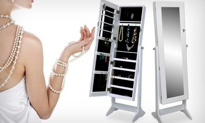 armoire bijoux groupon shopping. Black Bedroom Furniture Sets. Home Design Ideas