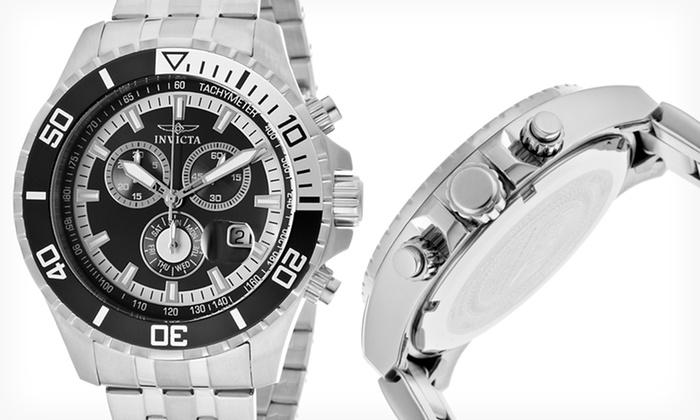 Invicta Men's Pro Diver Watches: $84.99 for an Invicta Men's Pro Diver Watches in Silver/Black or Silver/Dark Blue ($595 List Price)