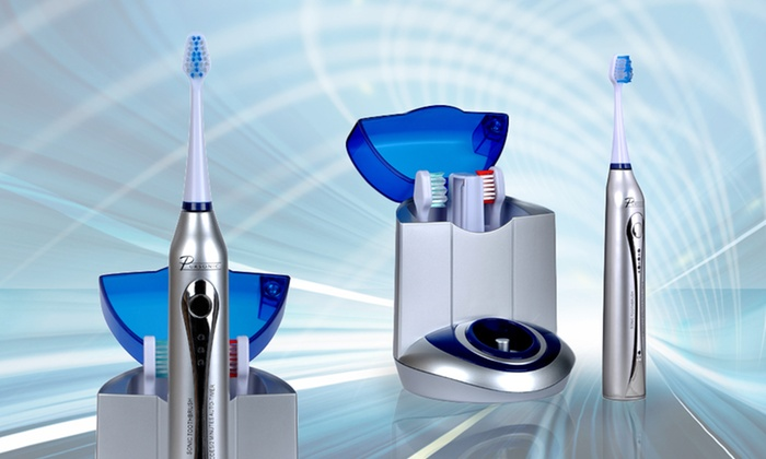 Pursonic Deluxe Sonic Toothbrush with 12 Brush Heads and UV Sanitizer: $49.99 for a Pursonic Deluxe Sonic Toothbrush with 12 Brush Heads and UV Sanitizer ($130 List Price). Free Shipping.