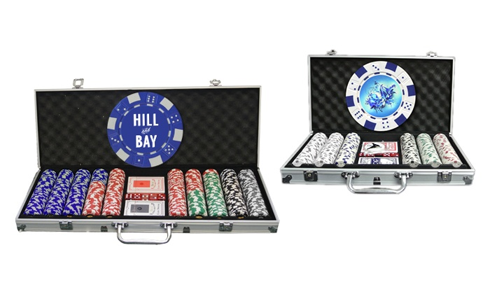 Custom Made Casino: Personalized Poker-Chip Set with 300 or 500 Chips from Custom Made Casino (Up to 59% Off)