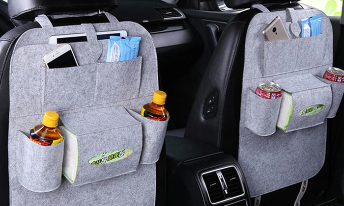 Backseat Car Organizers Multi Pocket Black Organization for Automobile LTD
